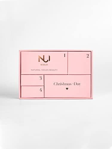 NUI Natural & Vegan Beauty Adventskalender 2021 - Originalgrößen von Mascara, Kajal, Cream Blush, Lipstick, Face Cream und einer exklusiven Limited Edition