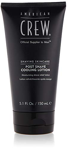 AMERICAN CREW – Post-Shave Cooling Lotion, 150 ml, 2-in-1 After Shave Balsam & Tageslotion, Pflegeprodukt...