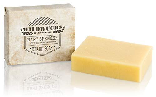Bartseife BART SPENCER von Wildwuchs Bartpflege - Beard Soap Stück Seife für Männer 100% natürlich und...