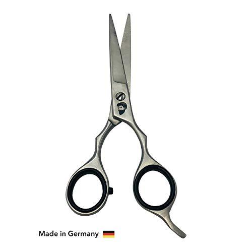 BEARD ELEGANCE Bart-Schere - Premium Friseur-Schere Für Den Perfekten Schnitt - Scharfe Und Präzise Qualitäts-Haar-Schere Für Bart- Und Kopfhaar - Made In Germany - 16cm
