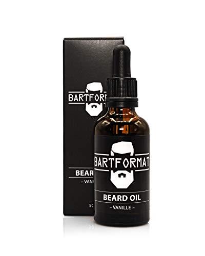 BARTFORMAT® Bartöl für einen geschmeidigen Bart - Vanille - Bartpflegemittel 50 ml - Beard oil aus Jojoba und Aloe Vera - Bart Öl für eine frische Bartpracht