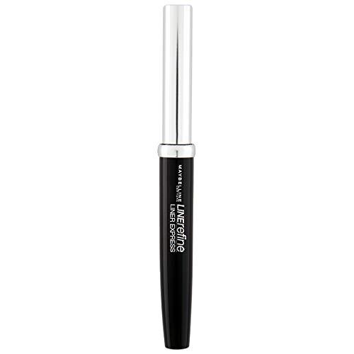 Maybelline Liner Express Eyeliner in schwarz, Flüssig-Eyeliner mit Filzspitze für einen super-einfachen Lidstrich, 9 ml