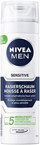 NIVEA MEN Sensitive Rasierschaum im 6er Pack (6 x 200 ml), Rasierschaum für eine glatte und sanfte Rasur,...