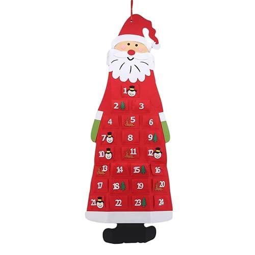 Weihnachtskalender für den Weihnachtsmann 24. Feiertagskalender Dekoration langlebig und schön