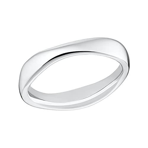 s.Oliver Ring Edelstahl Damen Ringe, Silber, Kommt in Schmuck Geschenk Box, 2032540