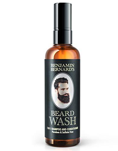 Bartshampoo - 2-in-1 Shampoo & Spülung von Benjamin Bernard - Bartpflege hergestellt mit 100% natürlichen...