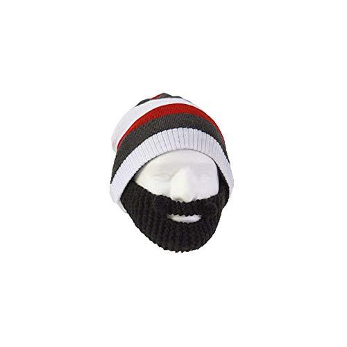 BEARD HEAD Bartmütze Stubble Cruiser gestreifte Mütze schwarz