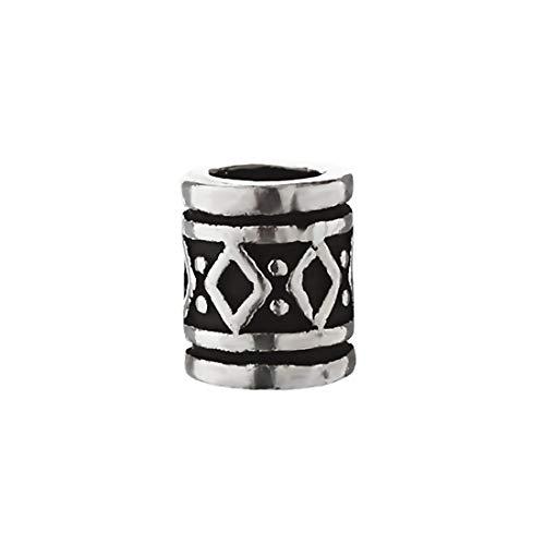 NKlaus Haarschmuck Bartperle Lockenperle FYRKAR Wikinger Style 925 Sterlingsilber Silber 6474