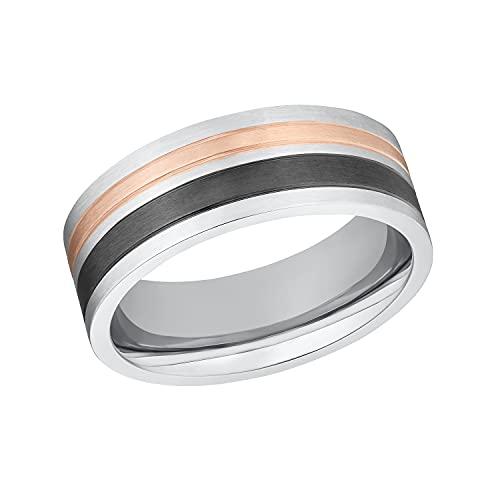 s.Oliver Ring Edelstahl Damen Ringe, Bicolor, Kommt in Schmuck Geschenk Box, 2032551