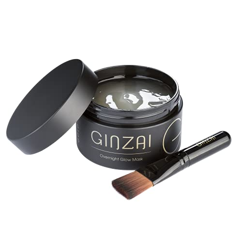 GINZAI – Overnight Glow 100ml mit Ginseng – koreanische Kosmetik für gut durchblutete Haut – beruhigende Maske, Gesichtsmaske für einen prallen und strahlenden Teint – Pflegeprodukt