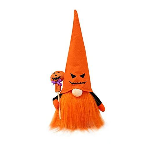 Halloween sitzende leuchtende Puppe gesichtslosen Rudolph Old Man Bartschmuck orange Hut