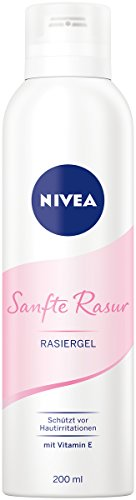 NIVEA Sanfte Rasur Rasiergel im 1er Pack (1 x 200 ml), ermöglicht eine besonders gründliche und sanfte...