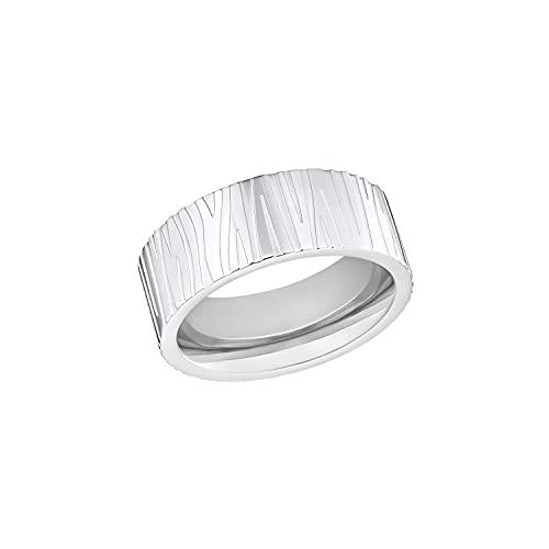 s.Oliver Ring Edelstahl Damen Ringe, Silber, Kommt in Schmuck Geschenk Box, 2032524