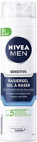 Nivea Men Sensitive Rasiergel im 6er Pack (6 x 200 ml), Rasiergel für eine glatte und sanfte Rasur,...