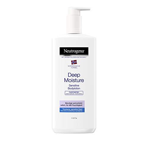 Neutrogena Deep Moisture Bodylotion Sensitive, Norwegische Formel, Körpercreme parfümrei, Trockene und...