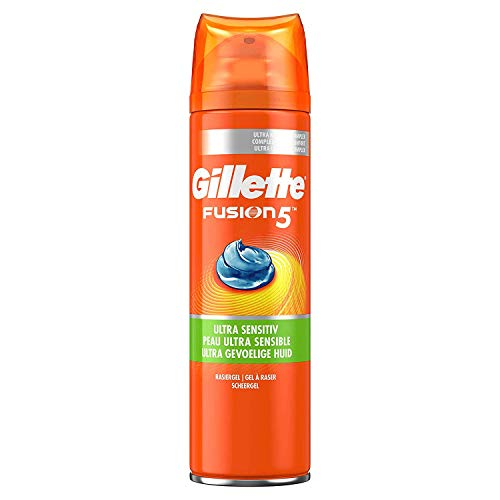 Gillette Fusion5 Ultra Sensitive Rasiergel Für Männer (1 x 200 ml)