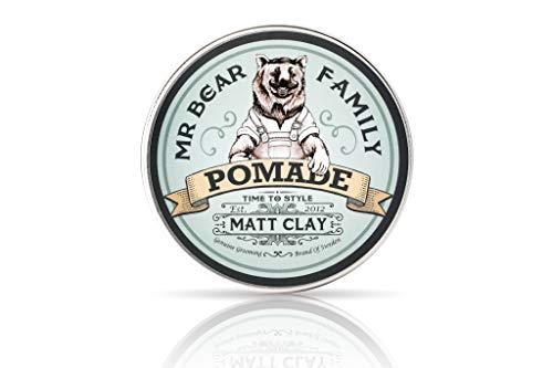Matt Hair Pomade für Männer - Medium Hold Water Based Mens Hair Styling Pomade Enthält Volumizing Kaolin...