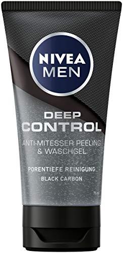 NIVEA MEN Deep Control Anti-Mitesser Peeling und Waschgel im 1er-Pack (1 x 75 ml), Gesichtsreinigung,...