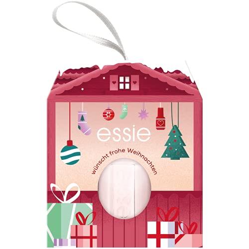 essie Nagellack in weihnachtlichem Häuschen, Nr. 6 ballet slippers, Nagellackfarbe in nude – für farbintensive Weihnachten