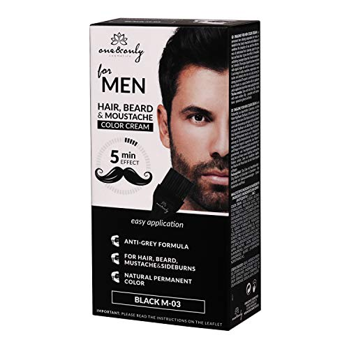 One&Only for Men Bartfärbemittel, Bart Farbe, Schnurrbart Farbe, ammonia- free, parabnes-free, PPD-free, 60g...