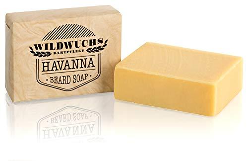 Bartseife HAVANNA von Wildwuchs Bartpflege - Beard Soap Stück Seife für Männer 100% natürlich und vegan...