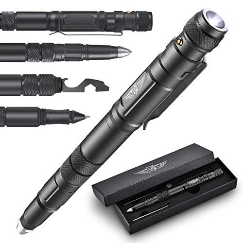 BIIB Geschenke für Männer, Taktischer Stift mit LED, Männer Geschenke Weihnachten Adventskalender Männer Füllung 2021 Kleine Geschenke für Papa/Opa Gadgets für Männer/Teenager