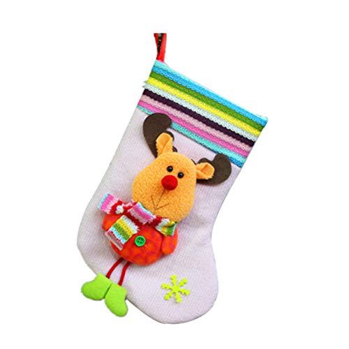 ABOOFAN Weihnachtsstrümpfe, Süßigkeitenbeutel, Nikolausgeschenk, Socken, hängende Socke