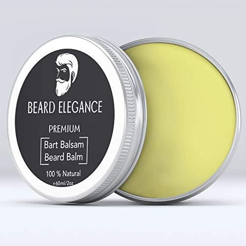 BEARD ELEGANCE Beard Balm - Bartpflege Bartbalsam & Bartwachs – Stoppt den Juckreiz, bändigt den Bart &...
