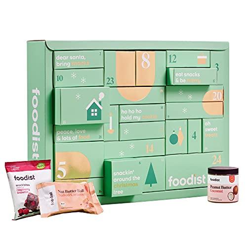 Foodist Snack Adventskalender 2021 - mit 24 Süßigkeiten wie Cookies, Snack Bites & Balls, Riegeln uvm. - exklusives Geschenk für Männer und Frauen