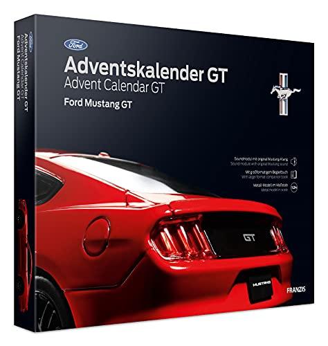 FRANZIS 55111 - Ford Mustang GT Adventskalender 2021, in 24 Schritten zur amerikanischen V8-Ikone unterm Weihnachtsbaum, für Kinder ab 14 Jahren