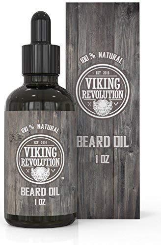 Viking Revolution Bartöl - Männer Pflegeprodukt für Bart u. Schnurrbart mit Bio Arganöl u. Jojobaöl -...