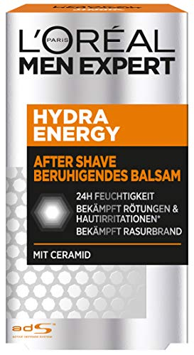L'Oreal Men Expert After Shave Balsam, 24H Feuchtigkeit, repariert und bekämpft Rasurbrand, Rötungen und...
