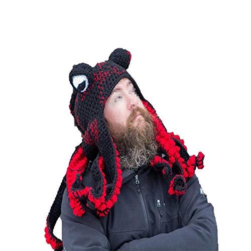 Nette Neuheit Hüte Kreativer Beanie Hut Strickmütze Winter Warmer Octopus Hut Warm Windproof Lustig für...