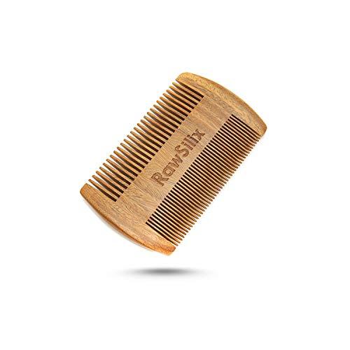 RawSilix   Premium Bartkamm   Traumhafter Sandelholz Duft   Herren & Frauen Kamm   1 Kauf pflanzt 1 Baum   Zahnung fein & grob   Umweltfreundlich   Holzkamm