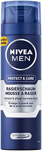 NIVEA MEN Protect & Care Rasierschaum im 6er Pack (6 x 200 ml), Schutz und Pflege für eine sanfte Rasur,...