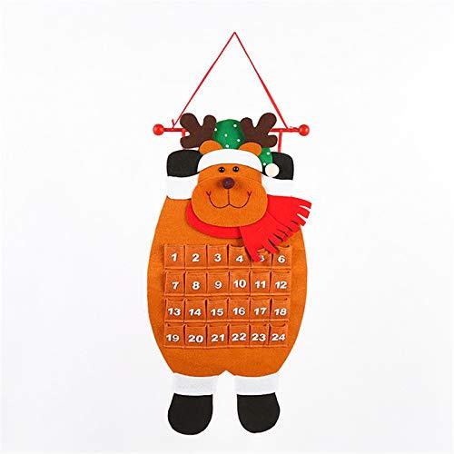 Dear, you Countdown Weihnachtsfeierdekoration, Weihnachtskalender Hängen Haushaltsbüro Schneemann Tierform Vlieskalender,3