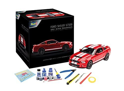 Revell 01031 Adventskalender Dream Cars Ford Shelby GT im Maßstab 1:25   19,3 cm   mit allem erforderlichem Zubehör   ab 14 Jahren 24 Tagen zum selbstgebauten Traumauto, Rot