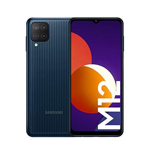 Samsung Galaxy M12 Android Smartphone ohne Vertrag, Quad-Kamera, 6,5 Zoll Infinity-V Display, starker 5.000...