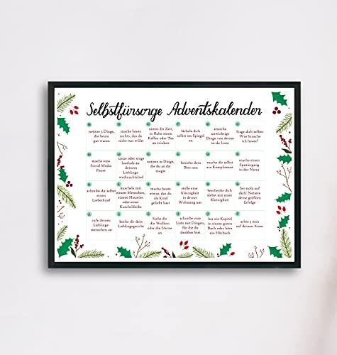 Selbstfürsorge Adventskalender für eine Weihnachtszeit ohne Stress und mit Achtsamkeit