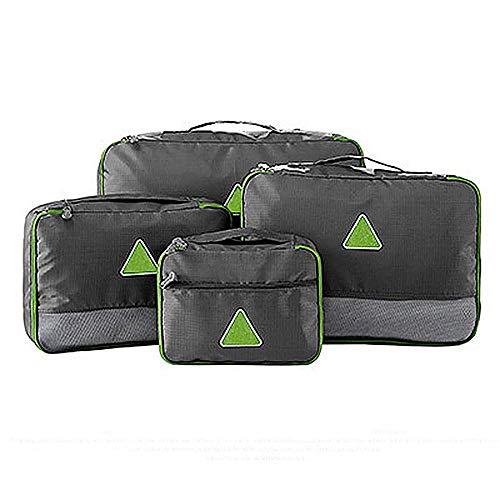 HYLH Packwürfel - 4Sets Luggage Organizer Reiseaufbewahrungstaschen, grau