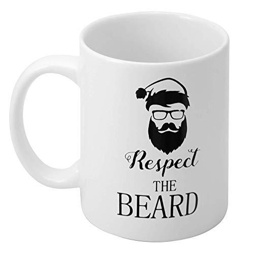 THE TWIDDLERS Tasse für Männer Tasse mit der Inschrift Respektiere den Bart Perfektes lustiges geheimes...