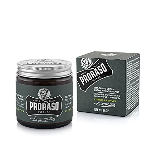 PRORASO Pre Shave Cream single blade Cypress & Vetiver, 100 ml