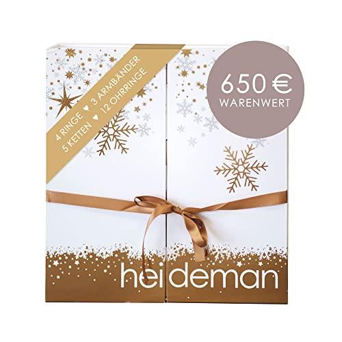 Heideman Adventskalender 2021 Frauen - Schmuck - Limited Edition - Advent Kalendar - Weihnachtskalender Gold