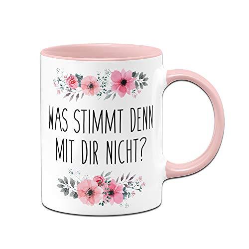 Tassenbrennerei Tasse mit Spruch was stimmt denn mit Dir Nicht? - Kaffeetasse lustig - Spülmaschinenfest...