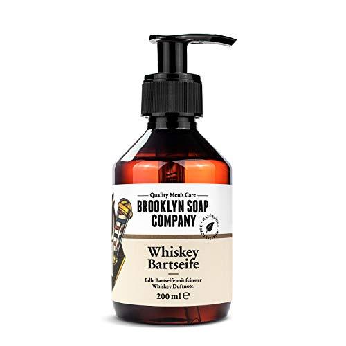 Whiskey Bartshampoo, Bartseife 200 ml Reinigung und Pflege für den Bart - Naturkosmetik der BROOKLYN SOAP...