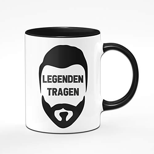 Tassenbrennerei Tasse mit Spruch Legenden Tragen Bart - Geschenk für Männer mit Bart Tassen mit Sprüchen...