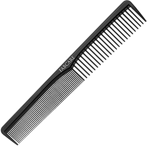 FABCARE Carbon Kamm Antistatisch - Bruchfester Friseur Kamm aus hochfestem Carbon-Kunststoff -...