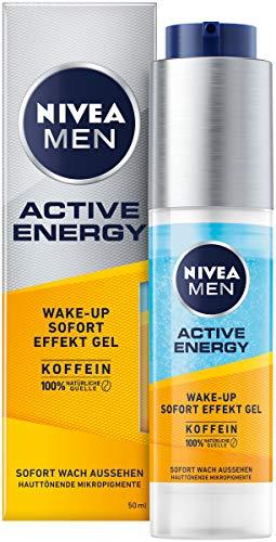 NIVEA MEN Active Energy Wake-up Sofort-Effekt Gel (50 ml), Gesichtscreme für Männer mit 100% natürlichem Koffein, Feuchtigkeitscreme gegen Zeichen von Müdigkeit