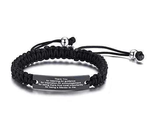 VNOX Mentor Geschenk Chef Wertschätzung Geschenk Mentor Handgemachtes geflochtenes Armband Danke Geschenke für Anleitung und Inspiration Mitarbeiter Geschenke verlassen
