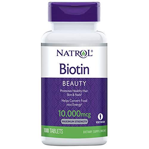 Natrol, Biotin (maximale Stärke), 10.000mcg, 100 Veg. Tabletten